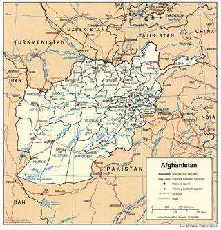 afghanistan map Saira Shah