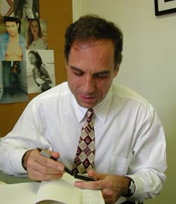 David Hajdu signing book