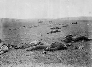 gettysburg dead bodies