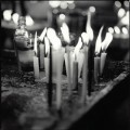 Candles in Guatemala by Doug Beasley