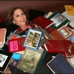 Hillary Carlip covered in books