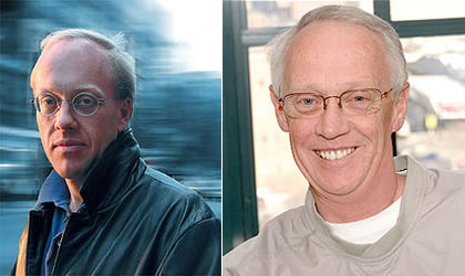 Chris Hedges (left) and Christian Bauman's father (right)