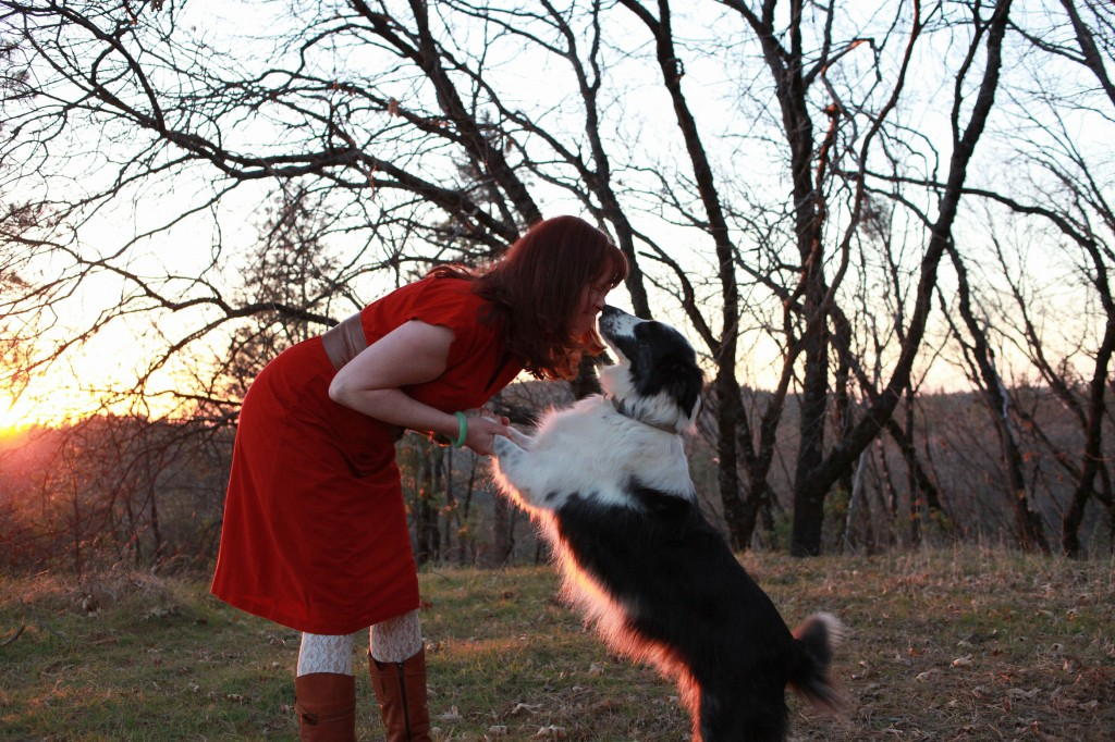 Heather Donahue with her dog Vito