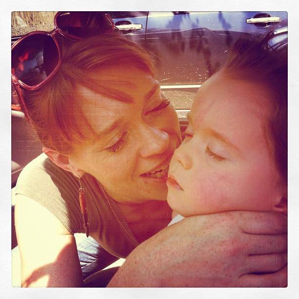 Author Emily Rapp with child Ronan