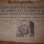 NY Times: Spiro Agnew Resigns
