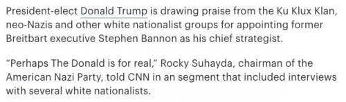 American Nazi Party praises Trump