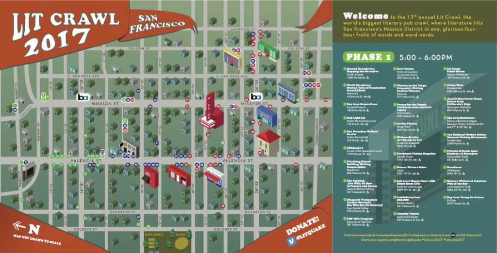 Lit Crawl San Francisco Map
